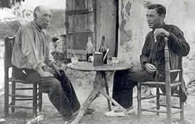 Hermes y el escritor ampurdanés Josep Pla, en Aiguaxelida, Begur
