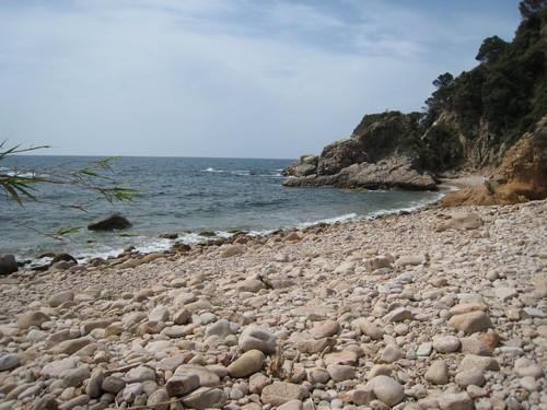 La Cala de Vallpresona tiene una baja ocupación, incluso en pleno verano