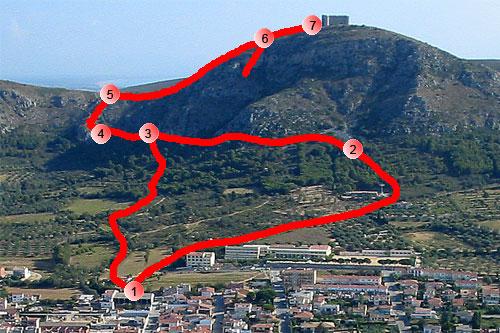 Recorrido de subida al Castillo de Torroella de Montgrí