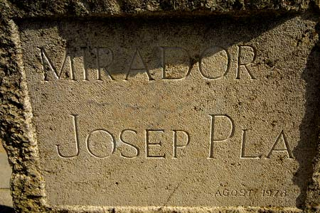 La admiración que el escritor Josep Pla tuvo por este rincón ha hecho que el mirador haya tomado su nombre