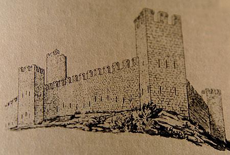 Esta ilustración nos muestra cómo era el castillo original de Pals