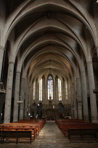 "Nave interior de Santa Maria del Mar, la ""Catedral de la Costa Brava"""
