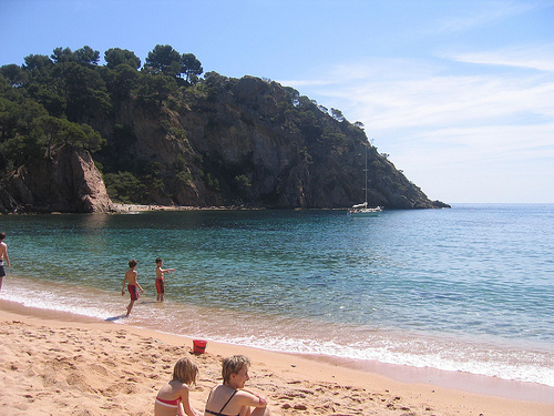 Cala Giverola, en Tossa de Mar