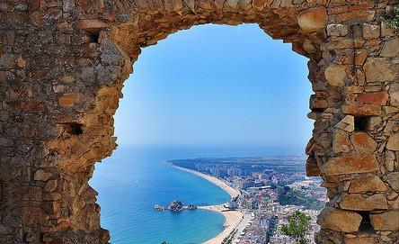 Vistas desde el arco del Castillo de Sant Joan