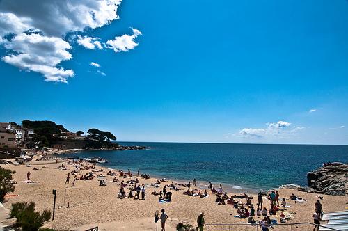 La playa del Canadell, en Calella de Palafrugell, Girona, Costa Brava