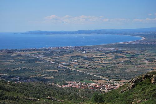 Vistas que se aprecian desde el mirador del Mas Ventós, en Palau-Saverdera, Girona, Costa Brava
