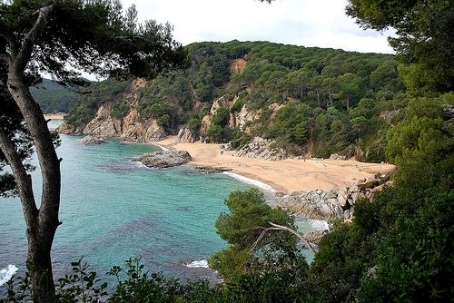 Cala Boadella, en Lloret de Mar, Girona, Costa Brava