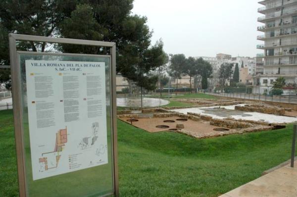 Indicativo de la historia del asentamiento romano de Pla de Palol