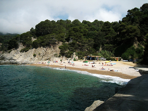 Cala Llevadó, en Tossa de Mar, Girona, Costa Brava