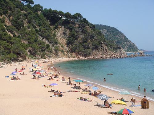 La playa del Senyor Ramon es larga y de arena