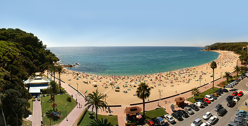 La playa de Fenals, en Lloret de Mar