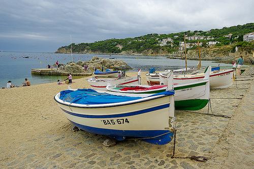 La pequeña cala de Port Bo, en Calella de Palafrugell, Girona, Costa Brava