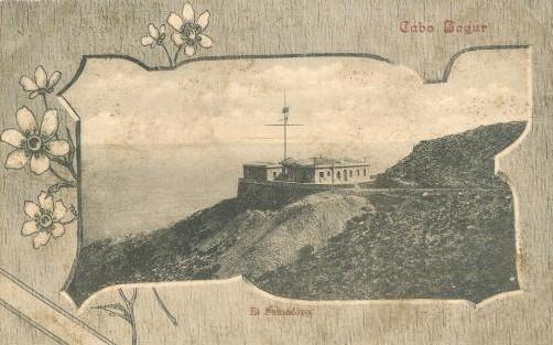Dibujo antiguo del Semáforo en el Cap de Begur, de principios del siglo pasado