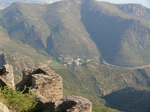 Vistas obtenidas de la Vall de la Santa Creu desde el Monasterio de Sant Pere de Rodes