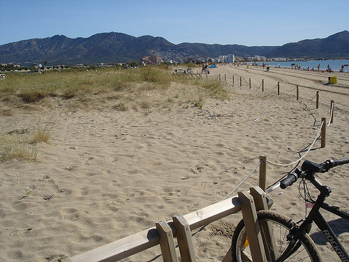 La Playa Rubina, en Empuriabrava, Girona, Costa Brava