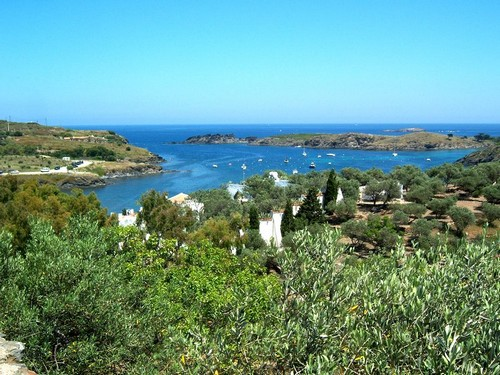 Portlligat, en pleno cabo de Creus, se encuentra rodeada de bosques y vegetación