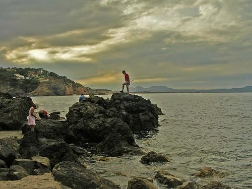 Zona del litoral de Begur cercana a Ses Negres. La pesca, incluso con mera caña, en la Reserva está castigada por la ley