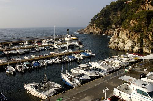 Puerto deportivo de Cala Canyelles, en Lloret de Mar