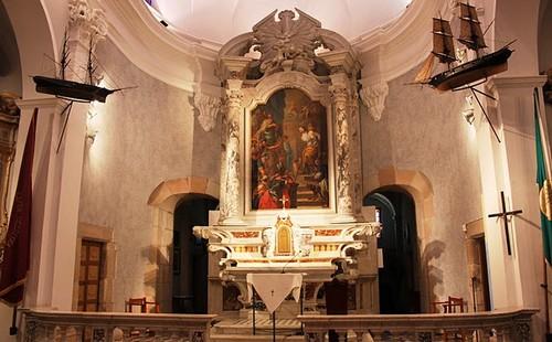 Altar de la ermita de Santa Cristina, en Lloret de Mar, Costa Brava