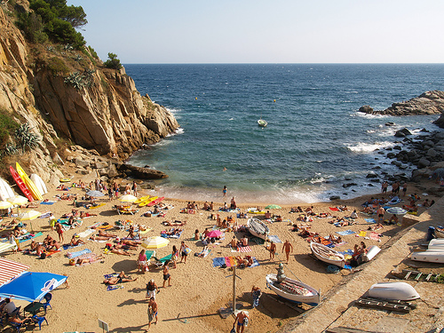 La cala de es Codolar, en Tossa de Mar, Girona, Costa Brava