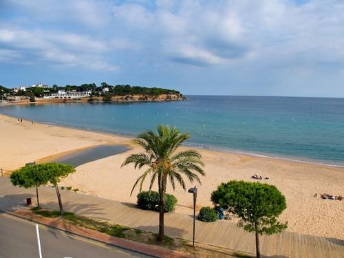 Playa de Sant Pol, en Sant Feliu de Guíxols