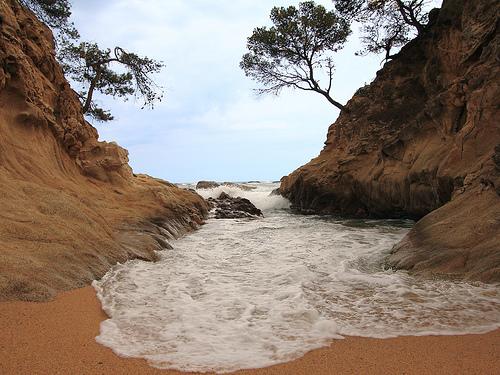 Cala Rovira, en Playa de Aro, Girona, Costa Brava
