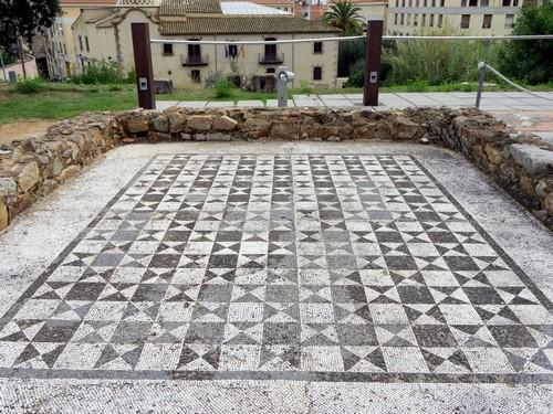 Mosaico de la Villa Romana Els Ametllers, en Tossa de Mar, Girona, Costa Brava