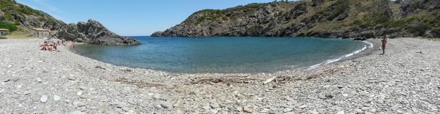Imagen panorámica de Cala Tavallera, el Port de la Selva, Cap de Creus, Costa Brava