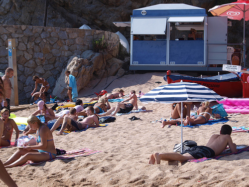 El chiringuito de Sa Caleta, en Lloret de Mar, se encuentra abierto en verano