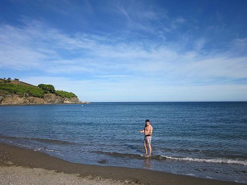 La Playa del Garbet, por sus características geográficas, no es una playa de alta ocupación