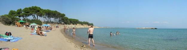 Vista panorámica de la Playa de les Muscleres, en l'Escala, Costa Brava