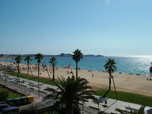 Playa de Torre Valentina, en Calonge, Girona, Costa Brava