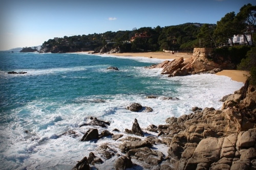 Playa de Can Cristus, en Calonge, Girona, Costa Brava