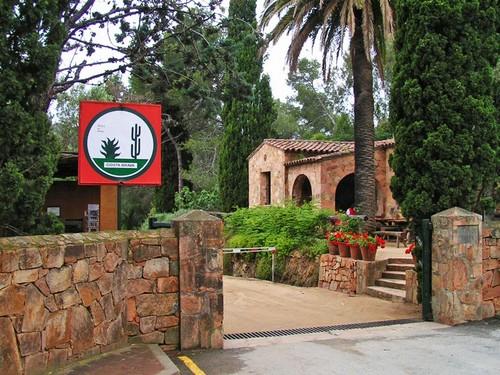 Entrada al Jardín Botánico Pinya de Rosa, en Blanes, Girona, Costa Brava