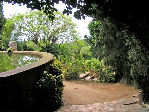 Fuente en el Jardín Botánico Pinya de Rosa