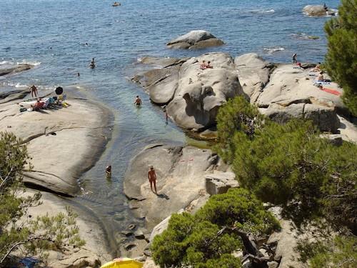 Cala de Roques Planes, en Calonge, Girona, Costa Brava