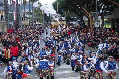 Desfile del Carnaval de Platja d'Aro, que se celebra alrededor de febrero