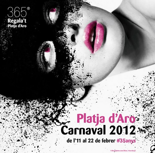 Cartel del Carnaval 2012 de Platja d'Aro, Girona, Costa Brava