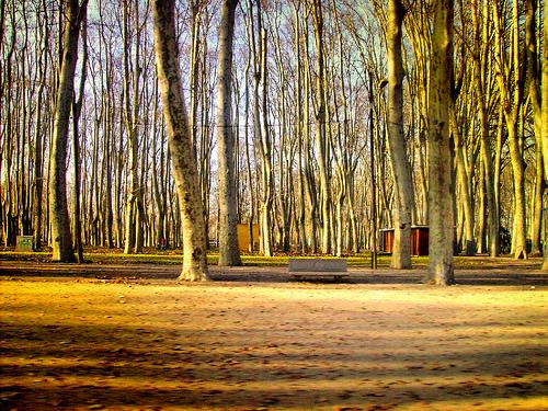 Parque de la Devesa, en Gerona, Costa Brava