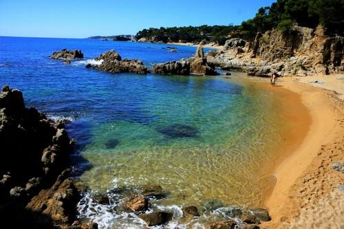 Cala del Forn, en Calonge, Girona, Costa Brava