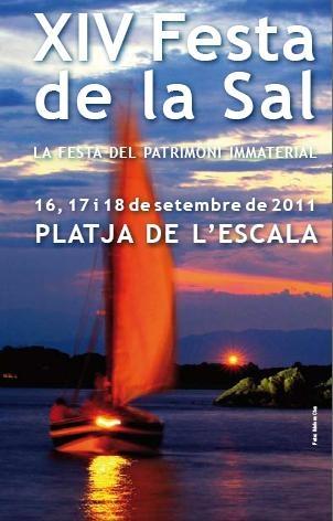 Cartel correspondiente a la Fiesta de la Sal celebrada en septiembre de 2011