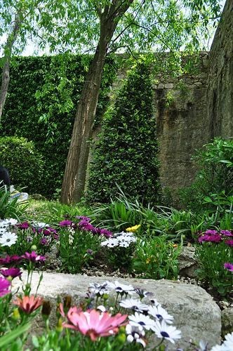 En los alrededores de las Murallas de Girona encontramos varios jardines de frondosa vegetación