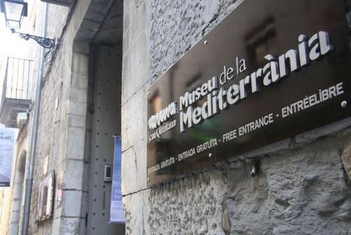 Entrada al Museo del Mediterráneo, en Torroella de Montgrí, Girona, Costa Brava