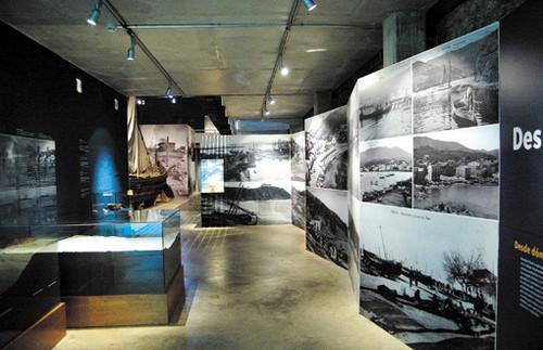 La exposición permanente del Museo de la Pesca, en Palamós, contiene un buen número de elementos interactivos