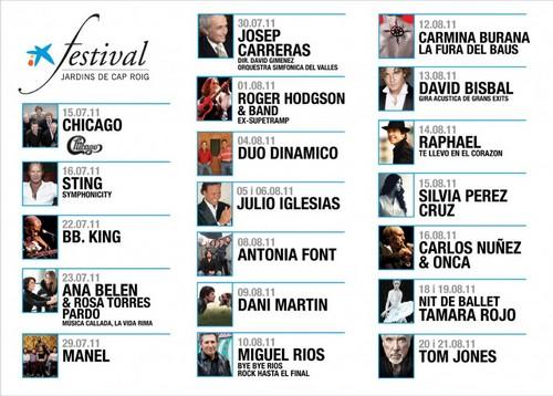 Cartel del Festival de Cap Roig, edición 2011