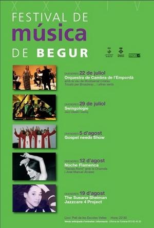 Cartel correspondiente al Festival de Música de Begur, Costa Brava