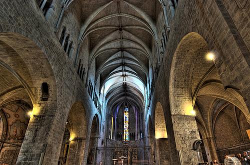 Nave central de la Iglesia de Sant Feliu, en Girona