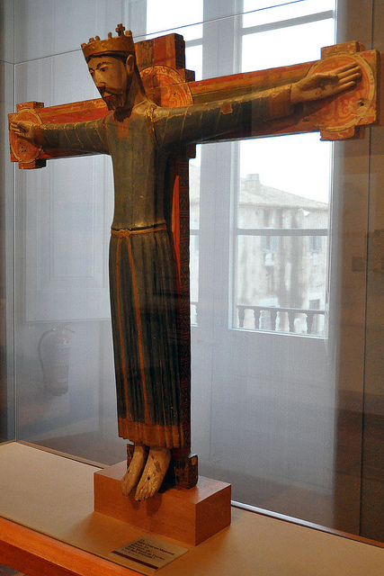 Talla de madera Majestad de Cruïlles, actualmente conservada en el Museo de Arte de Girona