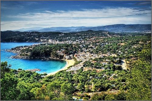 Vistas de la Playa de Llafranc desde el Faro de San Sebastián
