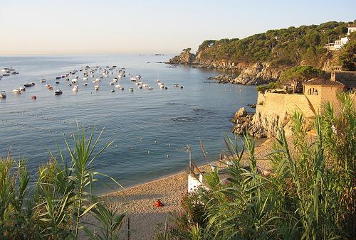 Hoy visitamos la Playa Port Pelegrí, en Calella de Palafrugell, Girona, Costa Brava